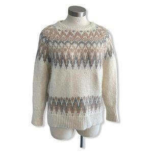 Manos Del Uruguay Sweater Handmade Fair Isle
